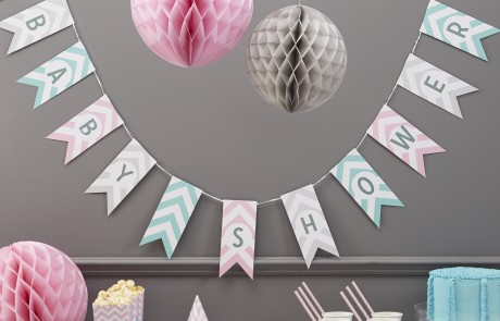 Baby Shower accessories | Chevron