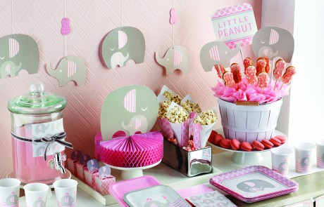 Baby Shower Decorations And Accessories | Pink Elephant