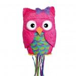 Cute Pink Owl Piniata