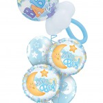Balloon Bouquet | Baby Boy | Moon | Stars | It's a boy | Pacifier