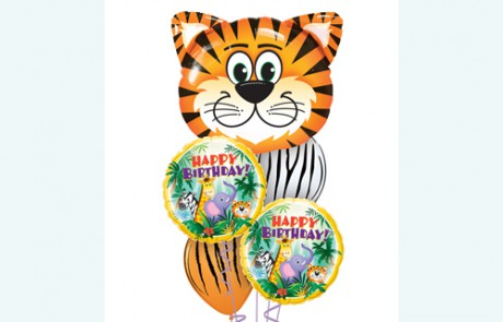 Balloon Bouquets |Happy Birthday | Tiger | Jungle Animals