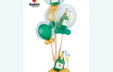 Balloon Bouquets | Champagne Bottles | Celebration|Green and Gold
