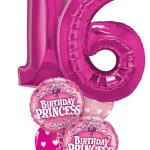 Balloon Bouquets | Sweet 16 |Birthday Princess | Pink