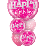 Balloon Bouquets | Happy Birthday | Pink | Stars