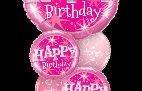 Balloon Bouquets | Happy Birthday | Pink | Stars
