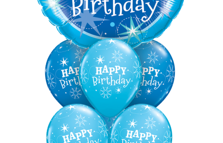 Balloon Bouquets |Happy Birthday | Blue | Stars