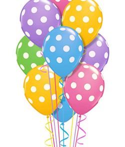 Μπουκέτο Μπαλονιών | Χρωματιστά Πουά μπαλόνια