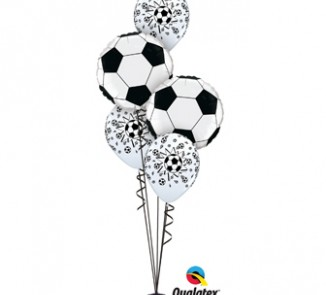 Balloon Bouquets |Football | Soccer | Black and white