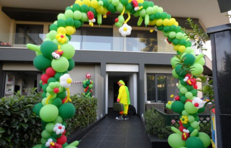 Arc balloon Decorations For Entrances At Events |Lady Bugs | Flowers | Green