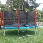 Hire | Outdoors Trampoline 19 with safety net | Price 259€