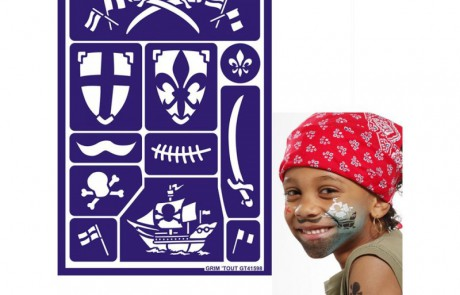 Pirate Stencils for face painting